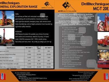 Drilltechniques Brochure Design