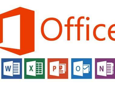 MS Office job