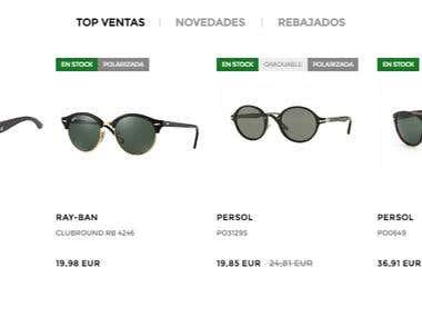 Sunglasses ecommerce
