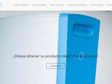 Water containers ecommerce