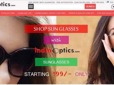 eCommerce Website: indiaoptics