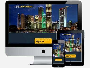 Landing page using DIVI