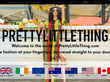 eCommerce Website: PrettyLittleThing