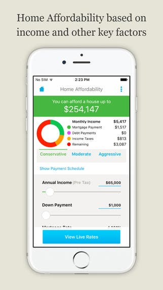 iOS App : LendingTree Mortgage Calculator