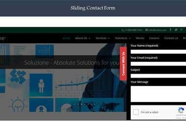 Soluzione Web Site - Fully responsive with sliders