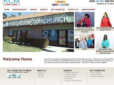 Develop on Core PHP URL- www.redemptionchapel.org
