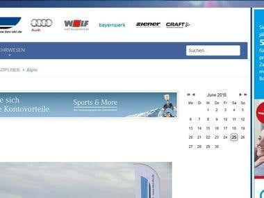 """bsv-ski.de"" Joomla website"