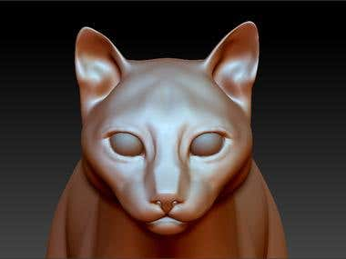 A cat from zbrush