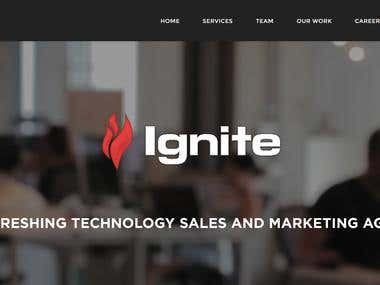 Ignite Marketing agency site