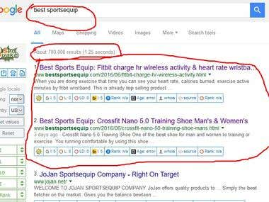 get website in google first page by target keyword