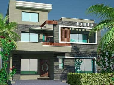 House 3D modeling and rendering