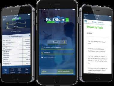 GratShare Android and iOS application