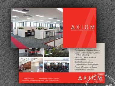 DL size Print design for Axiom