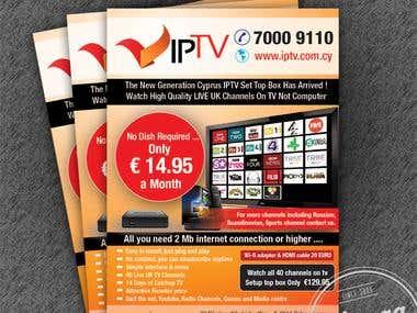 IPTV Promotional Flyer
