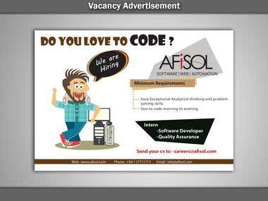 Vacancy Advertisement Afisol 002