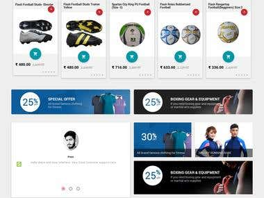 Official website for Online sports store company in India