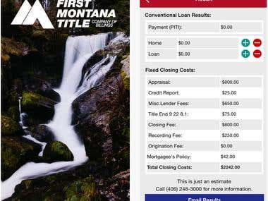 Real Estate Tools by First Montana Title