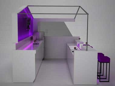 Gelato Kiosk Design
