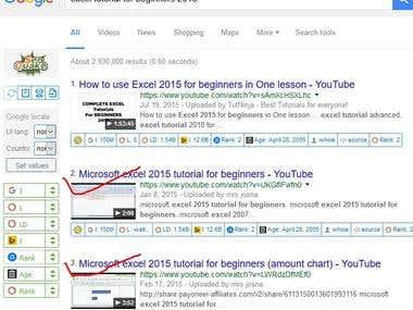 youtube video rank