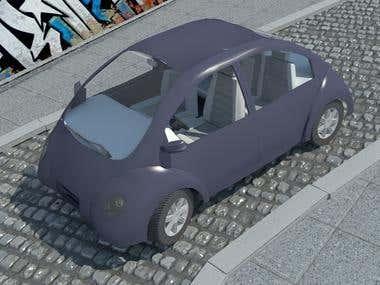 3D model concept of EV