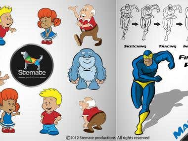 Mascot design and characters