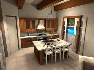 Kitchen design - mediterranean-tuscan style