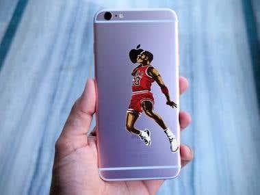 NBA Vector Cartoon Illustration iPhone Back Cover