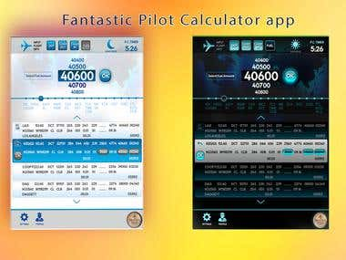 Calculator app for pilots
