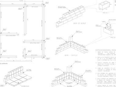 2D design and drafting on Autocad