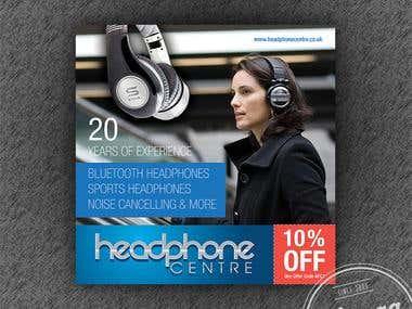 HeadPhone Centre Advert Design