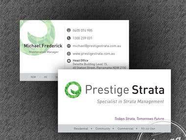Prestige Strata Brand design