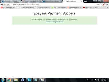 Epaylink chinise payment gateway in php