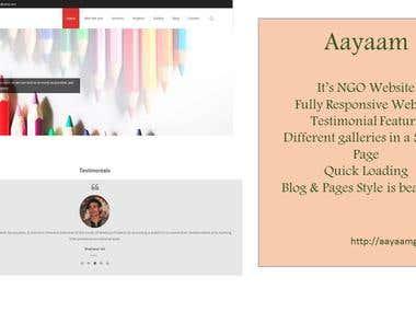 Aayaam - NGO website