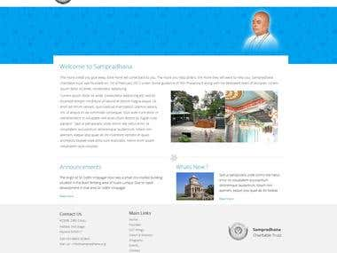 Website design for a Social service company