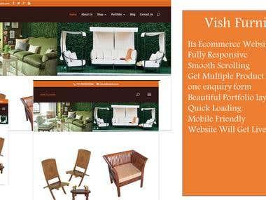 Ecommerce website - Vish Furnish