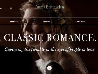EmmaBrittenden : Photographer Portfolio Website