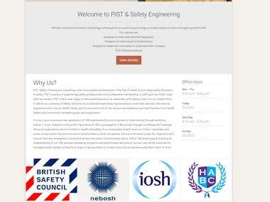 Developed Website & Admin Panel for Safety Engineering