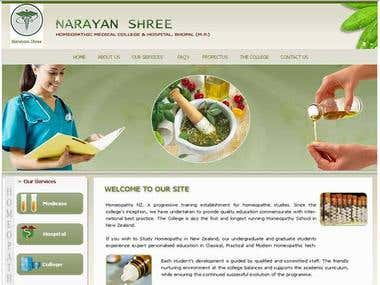 Hospital web site