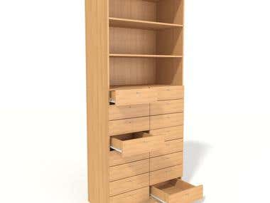 Design and rendering of furniture for offices and shops