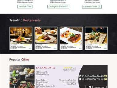 Restaurant search website