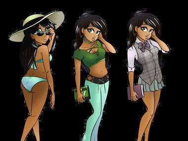 Beautiful Model Anime Babe