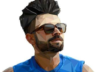 Virat Kholi Illustration