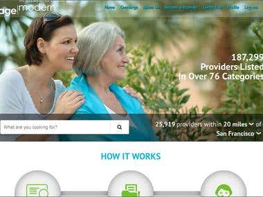 agemodern.com - Service targeted to find providers