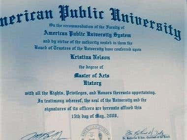 Pictures of Degrees