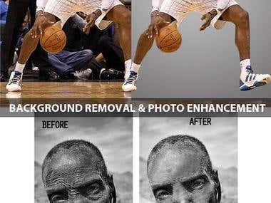 Back ground removing and Simple retouching