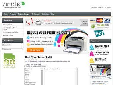 Toner Recharging Shop Zinetic