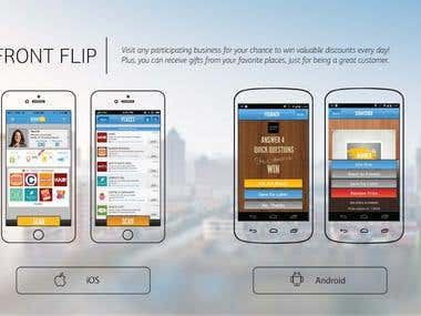 FRONT FLIP iOS and Android applications