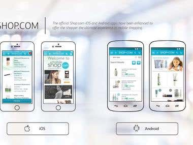 Shop.com iOS and Android applications