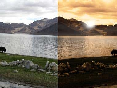 Image Editing: Before and After image