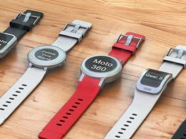 Smart watches 3D visualization